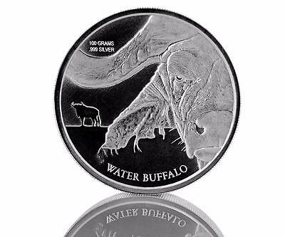 2017 100 gram Congo Water Buffalo .999 Silver Coin by Scottsdale Mint BU #A424