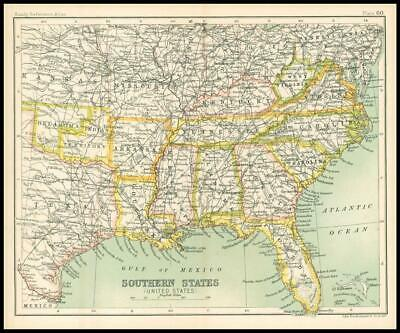 c1912 Map of the SOUTHERN STATES United States Chart Regions (BS65)