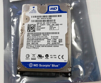 """WD Blue 640Gb HARD DRIVE 2.5"""" HDD WD6400BPVT-75HXZT3 HBOTJVN 5400rpm SATA #m140 for sale  Shipping to Nigeria"""