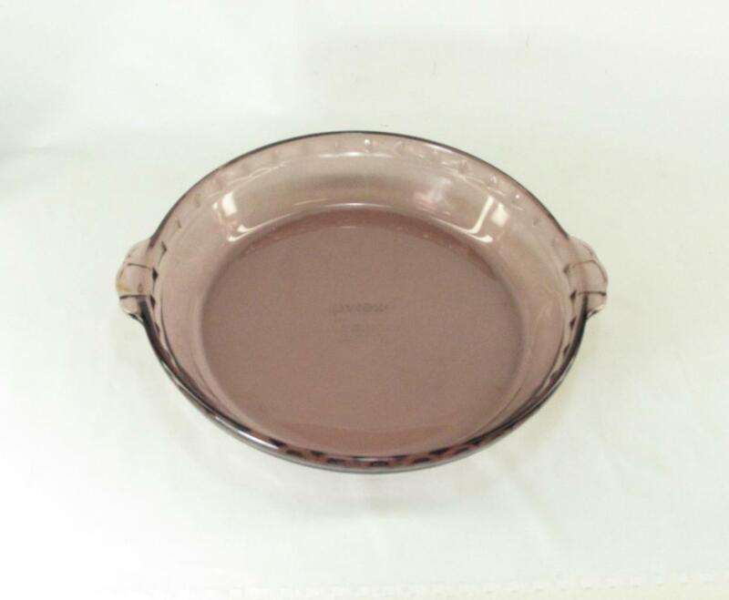 Vintage PYREX Purple Amethyst Glass Fluted Pie Pan #229 Crimped Deep Dish Plate
