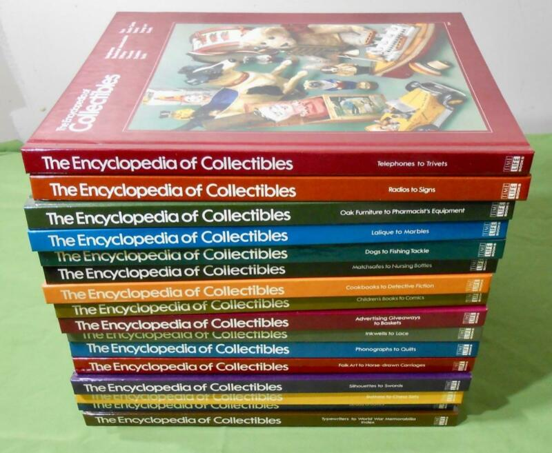 VINTAGE THE ENCYCLOPEDIA of COLLECTIBLES TIME LIFE free shipping ANTIQUE BOOK nr