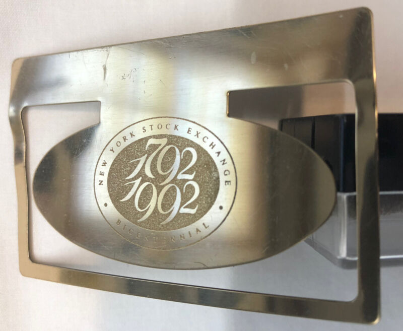 NYSE BICENTENNIAL 1792-1992  Commemorative Gold Plate BOOKMARK NY Stock Exchange