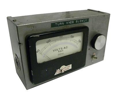 Powerstat Type 10b Variable Transformer With A Phaostron Av Voltmeter