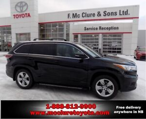 2014 Toyota Highlander Limited Like new