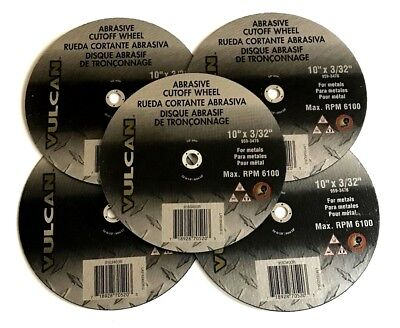 5 Vulcan 10 X 332 Chop Saw Metal Cut Off Wheel Grinding Miter Gas 3476