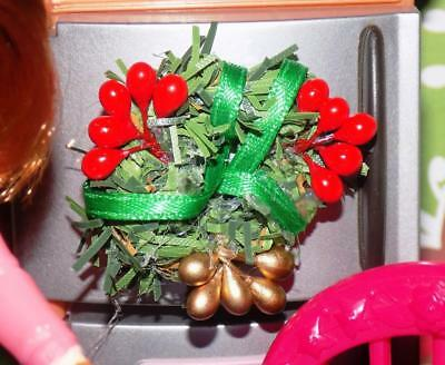 Holy Berry Christmas Wreath fits Fisher Price Loving Family Barbie Dollhouse for sale  New Castle
