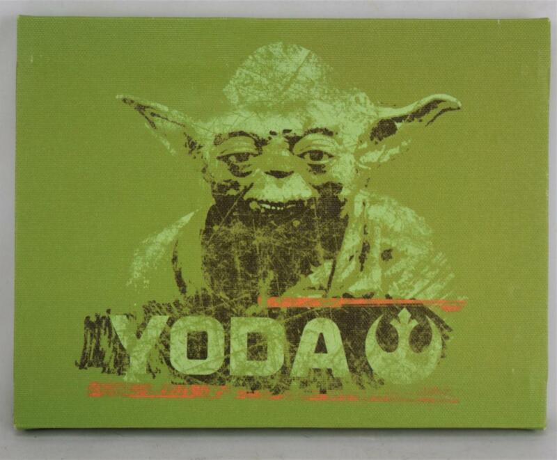 "Star Wars Yoda Artissimo Canvas Art Print Picture 8 1/2"" x 6 1/2"" Framed MINT"