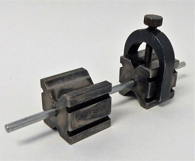 Machinists L. S. Starrett Co Matched Pair Of V Blocks Clamp Alignment Pin 271