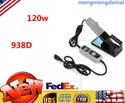 120w Hot Tweezers Mini Soldering Station Yihua 938d 110v With Stand Us Stock