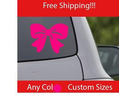 Hello Kitty Bow Vinyl Decal Sticker Cute Pink Girl Love Car Truck - Hello kitty custom vinyl decals for car
