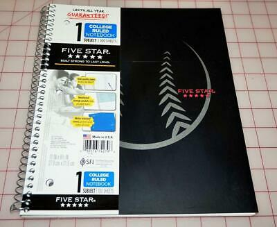 Five Star Spiral Notebook 1-subject 100 College-ruled Sheets 11 X 8.5 Inch.