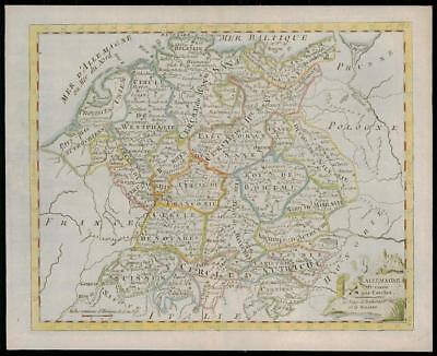 1787 - Original Antique Map L'ALLEMAGNE GERMANY by de la Tour (4)