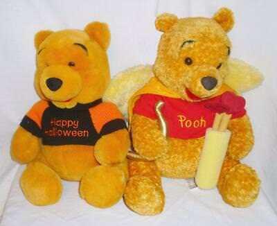 Disney Winnie The Pooh Cupid Wings AND Happy Halloween Orange Black Sweater ()