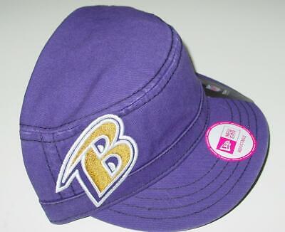 New Baltimore Ravens New Era Womens Cadet Military Adjustable Hat TOO CUTE! _B27 Baltimore Ravens Womens Hats
