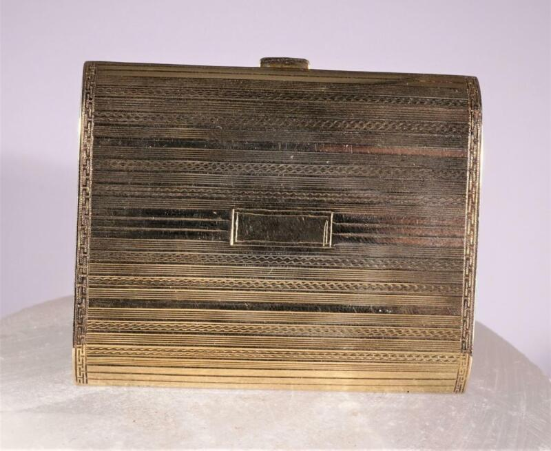 Antique Tiffany & Co. Compact Solid 14K Yellow Gold