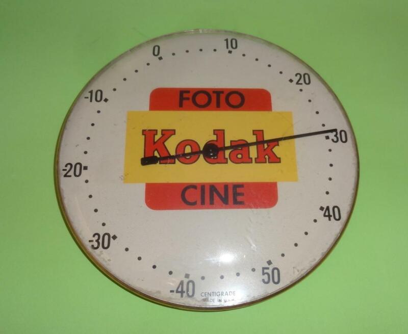 VTG KODAK FOTO CINE PHOTOGRAPHY CENTIGRADE TRAY THERMOMETER METAL USA 1960