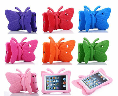 Butterfly Kids (Butterfly Children Kids Rubber Shock Proof Stand EVA Foam Case Cover For)
