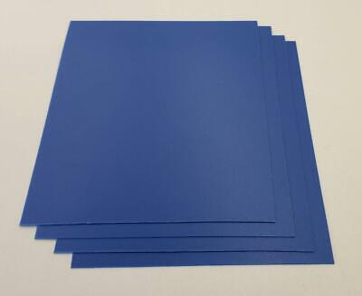 Blue Abs Plastic Sheet 0.0394 1mm X 8-12 X 10-12 Qty 4