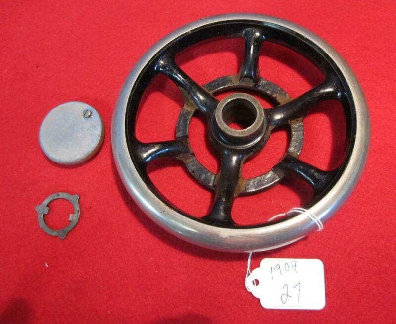 VINTAGE 1904 SINGER MODEL 27 SEWING MACHINE PARTS  DRIVE WHEEL
