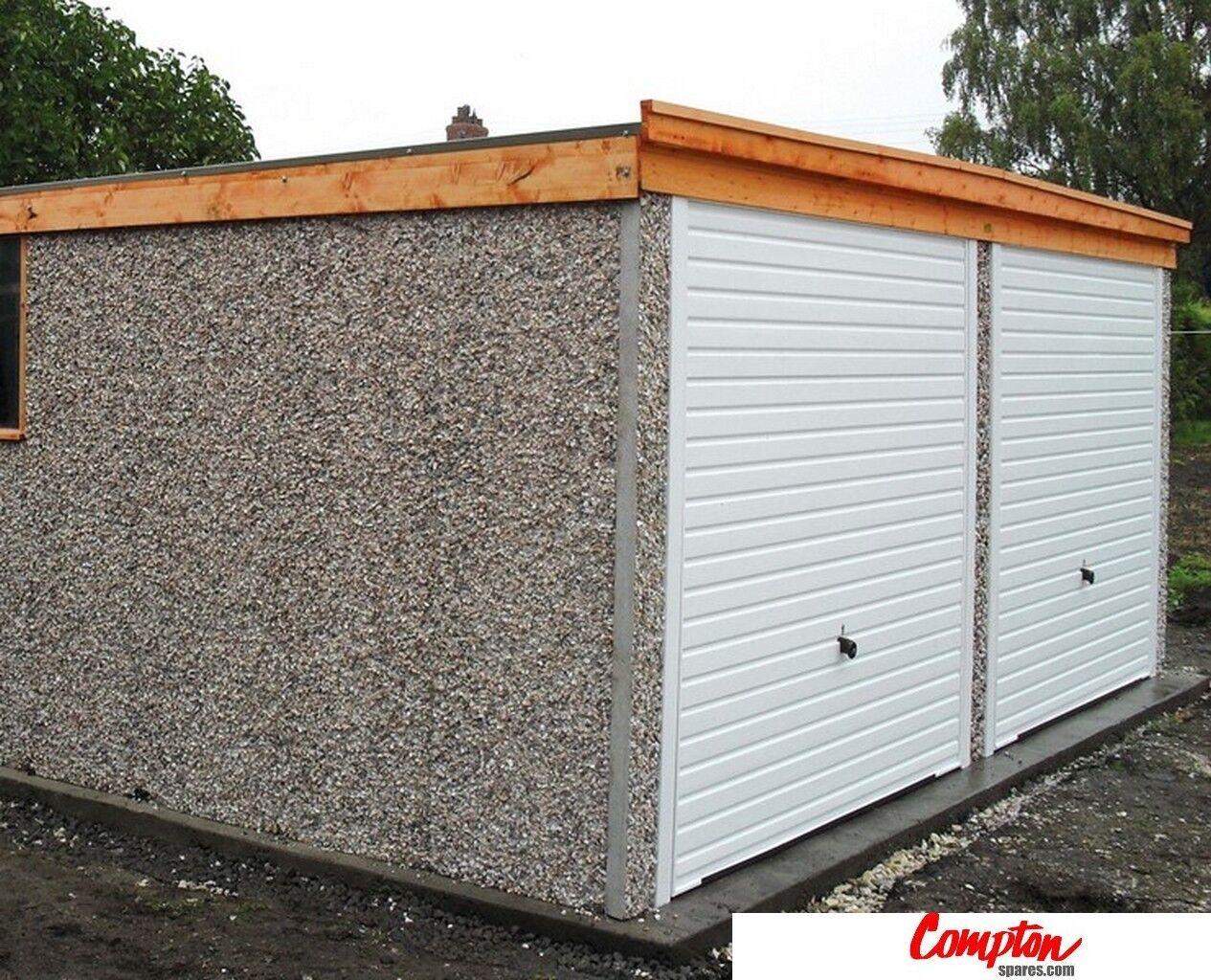 Prefab Garages Buildings Pent Double Garage 16ft6in W X 16ft3in Standard Ebay