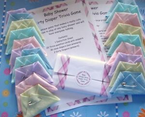 BABY SHOWER DIRTY DIAPER TRIVIA GAME A FUN ICE BREAKER