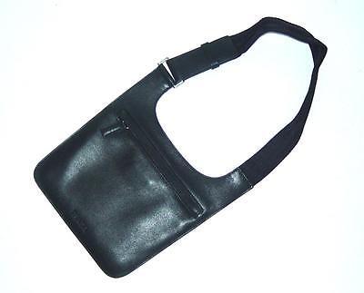 PRADA Vintage Black Leather Shoulder Messenger Bag