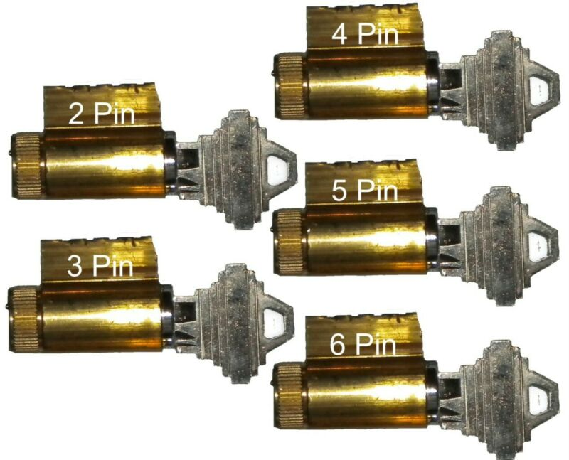SET OF 2,3,4,5 & 6 PIN PRACTICE LOCKSMITH TRAINING, PICK SCHLAGE BRASS LOCKS