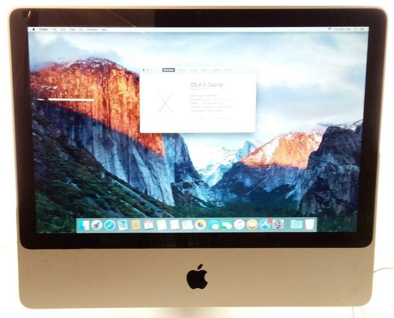 "Apple 20"" iMac All In One A1224 2.0GHz Intel 4GB Ram NVidia GFx WIFI El Capitan"