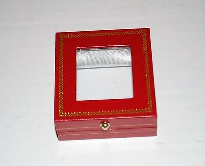 New Gemstone Jewelry Display Box Red Gift Gem Stone 2.5