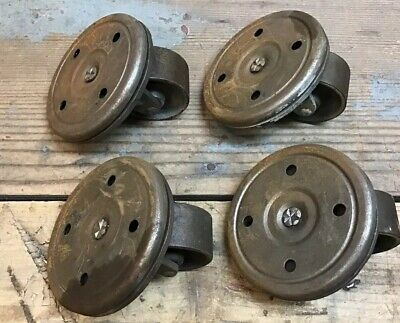 Set Of 4 Roller Bearing Castors Industrial
