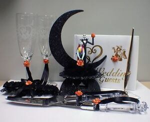 Details about Nightmare before Christmas Halloween Wedding Cake topper ...