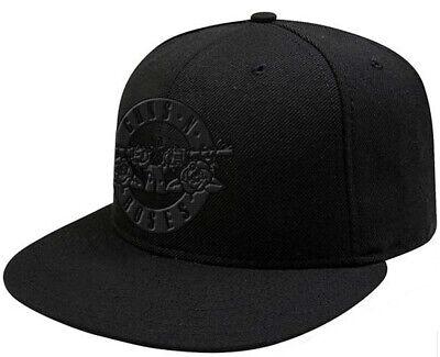 Guns N' Roses 'Circle Logo' (All Black) Snapback Cap - NEW & OFFICIAL!