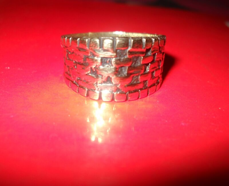 Egyptian Testament Magical Solomon Seal Amulet Ring 800 AD Authentic