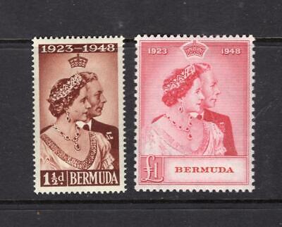 Bermuda 1948 Silver Wedding Set - OG MH - SC# 133-134   No Reserve!
