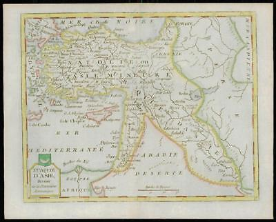 1787 - Original Antique Map TURQUIE D'ASIE Turkey CYPRUS by de la Tour (3)