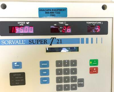 Sorvall Super-t21 Refrigerated Benchtop Centrifuge Sorvall Sl-50t Rotor 7593