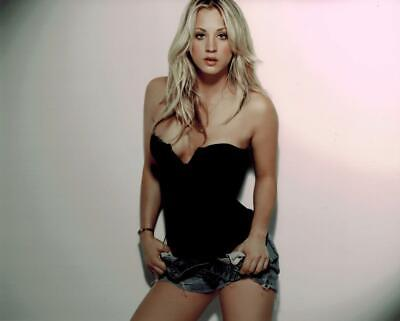 A Kaley Cuoco Sexy In Black Outfit 8x10 Picture Celebrity Print for sale  USA