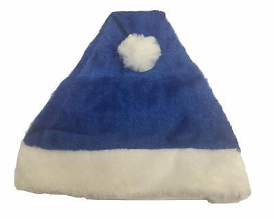 Royal Blue Santa Hats (Unisex Royal blue Santa Hat Father Christmas XMAS Family For Adult or Kid)