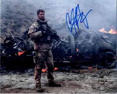 Chris Hemsworth 12 Strong Signed 8X10 Picture Photo Autographed Autograph Coa