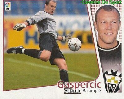 RONNY GASPERCIC BELGIQUE ALBACETE BALOMPIE CROMO STICKER LIGA ESTE 2005 PANINI