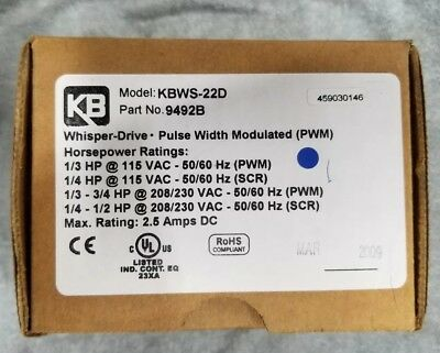 Kb Electronics Kbws-22d Pwm Dc Motor Control 9492 Chassis Mounted Whisper Drive