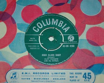 CLIFF RICHARD & THE SHADOWS, HIGH CLASS BABY*MY FEET, COLUMBIA 4203, R'n'R, EX