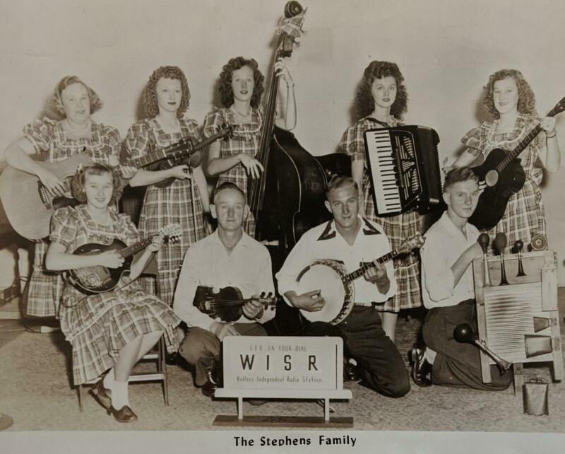 c 1950 HILLBILLY COUNTRY MUSIC PUBLICITY PHOTO the STEPHENS FAMILY w AUTOGRAPH S