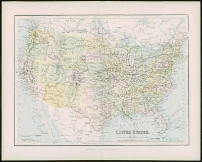1903 Original Antique Colour Map  - UNITED STATES GULF MEXICO (46)