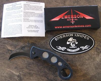 NOS Emerson Combat Karambit BT Self Defense Knife w/ Wave Shaped Opening Feature ()