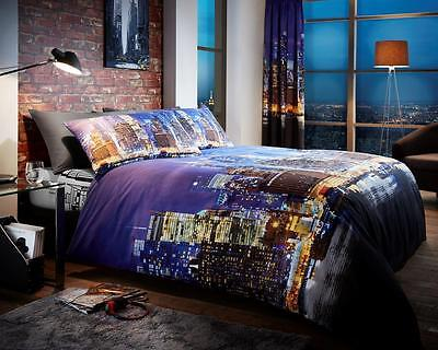 New York Night Life Duvet Cover Sets Quilt Cover Sets Reversible Bedding Sets