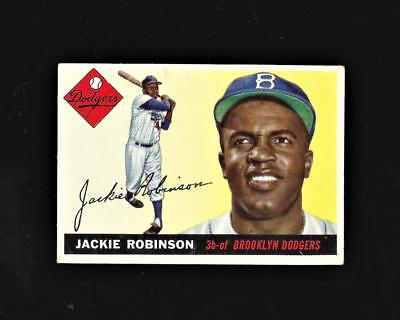 1955 Topps  50 Jackie Robinson 3 Vg Dodgers Centered Card   1948 Leaf Rc Rp