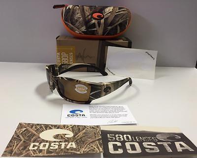 ba9f11f096510 New Costa Del Mar Corbina Polarized Sunglasses 580P Mossy Oak SGB Camo Amber