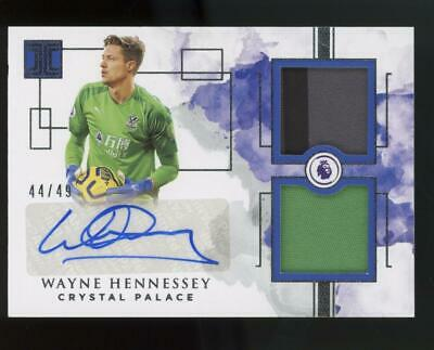 2019 Panini Impeccable Wayne Hennessey 44/49 Auto Patch Jersey Crystal Palace