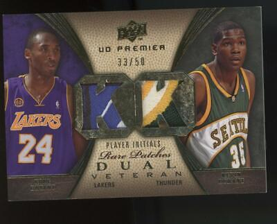2008 Upper Deck Premier Rare Dual Patch Kobe Bryant Kevin Durant 33/50 Jersey